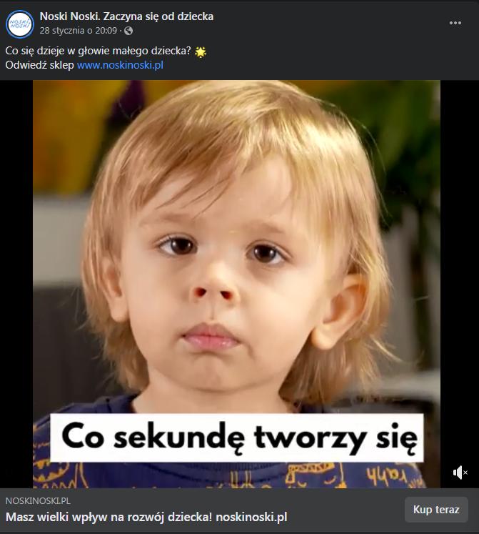 Content marketing, przykład Noskinoski.pl