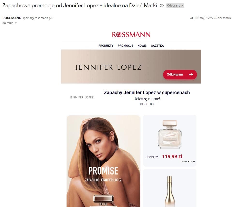 marketing internetowy przyklad rossman email marketing